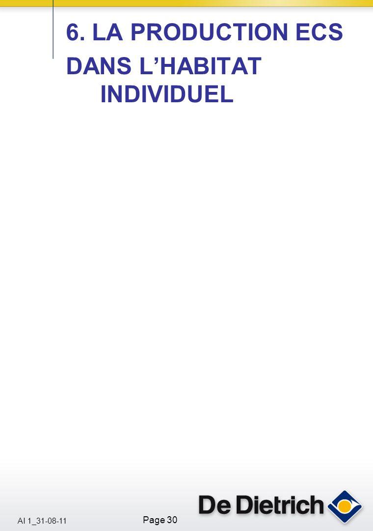 6. LA PRODUCTION ECS DANS L'HABITAT INDIVIDUEL