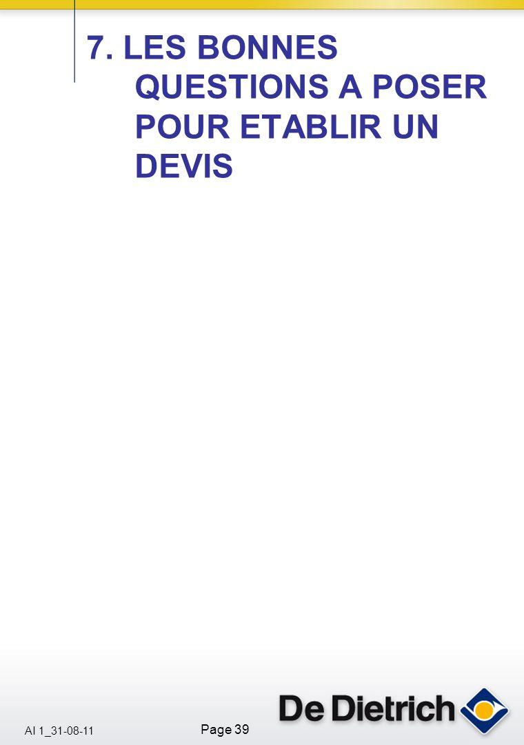 7. LES BONNES QUESTIONS A POSER POUR ETABLIR UN DEVIS