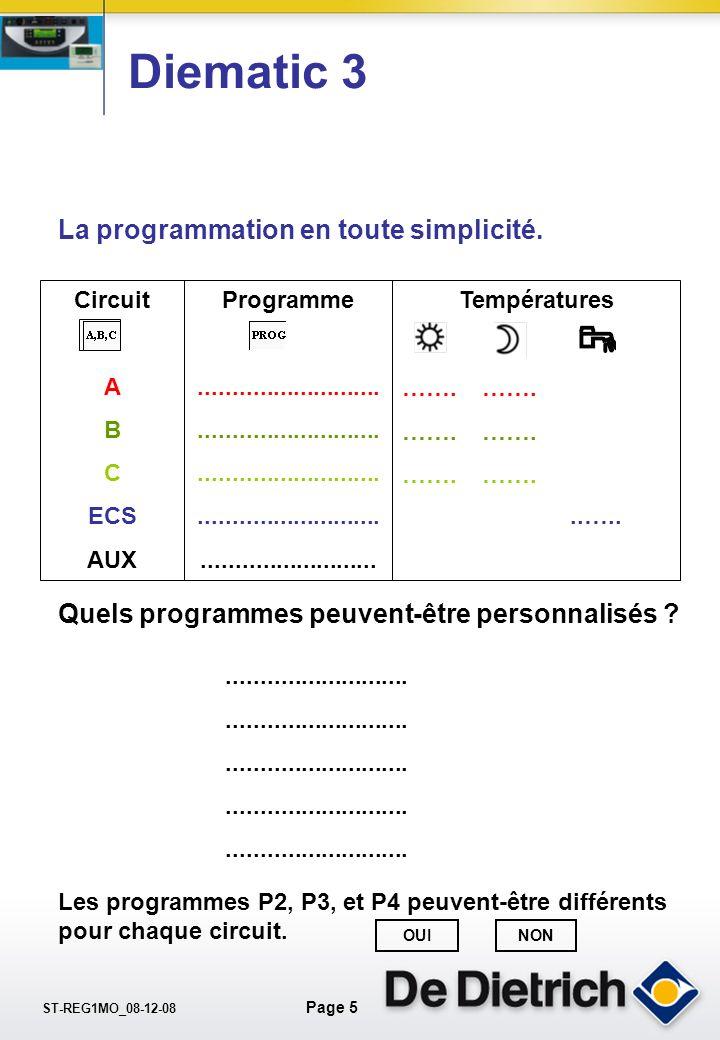 Diematic 3 La programmation en toute simplicité.