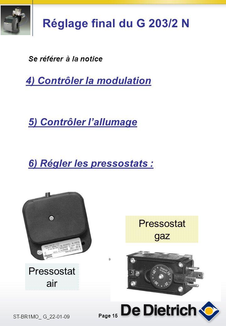 Réglage final du G 203/2 N 4) Contrôler la modulation