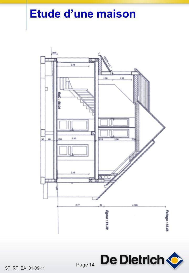 Etude d'une maison