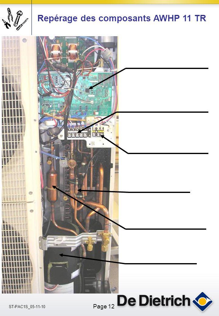 Repérage des composants AWHP 11 TR