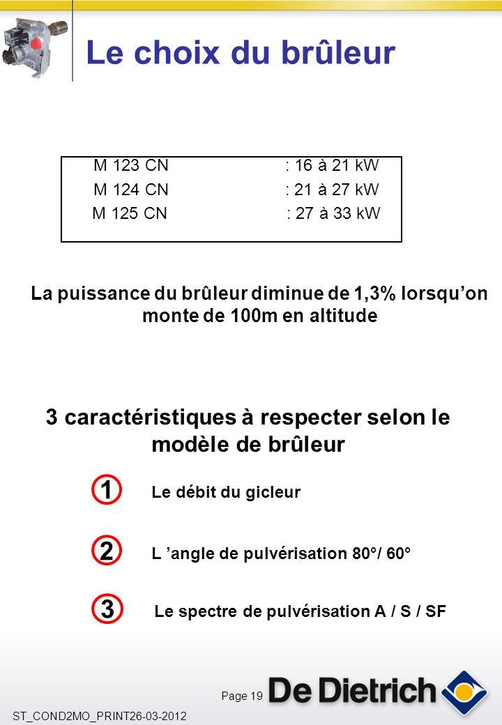 3 caractéristiques à respecter selon le modèle de brûleur