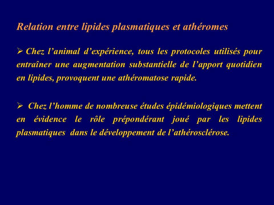 Relation entre lipides plasmatiques et athéromes
