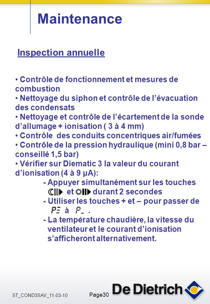 Maintenance Inspection annuelle