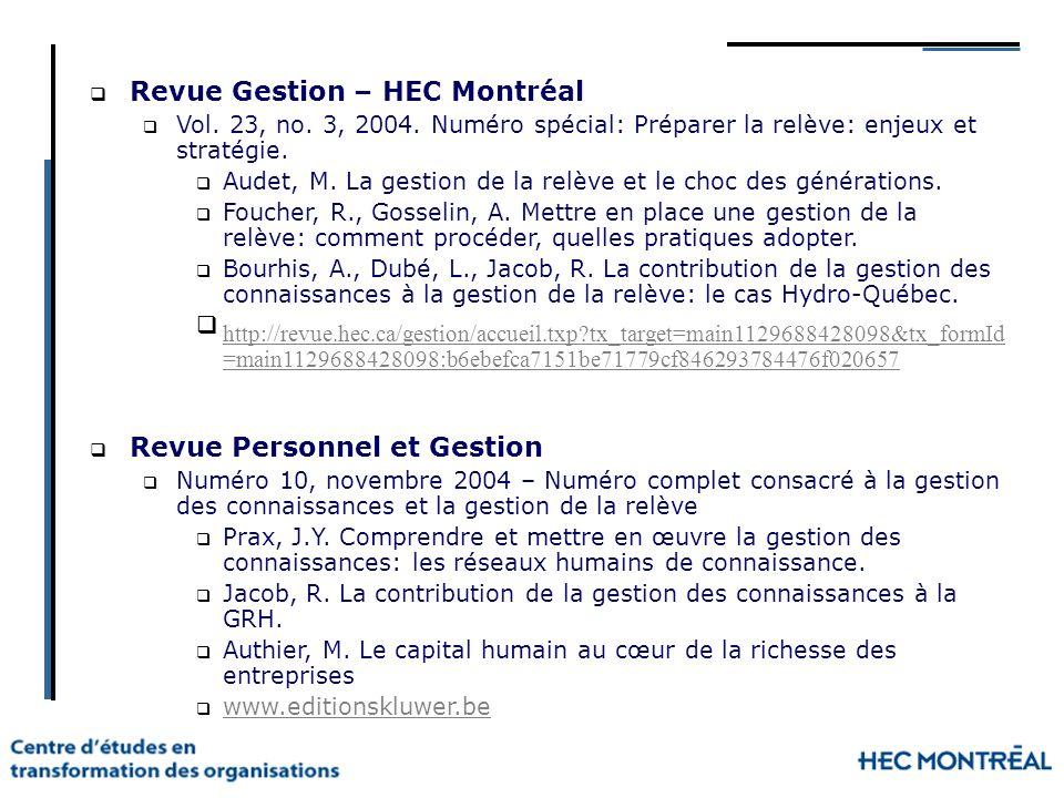 Revue Gestion – HEC Montréal