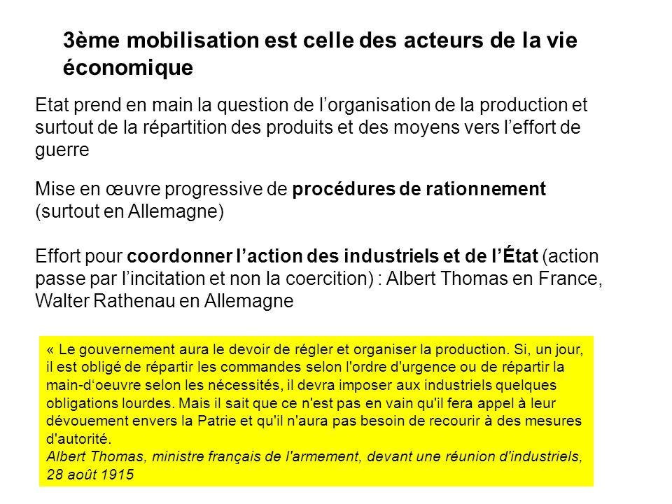 3ème mobilisation est celle des acteurs de la vie économique
