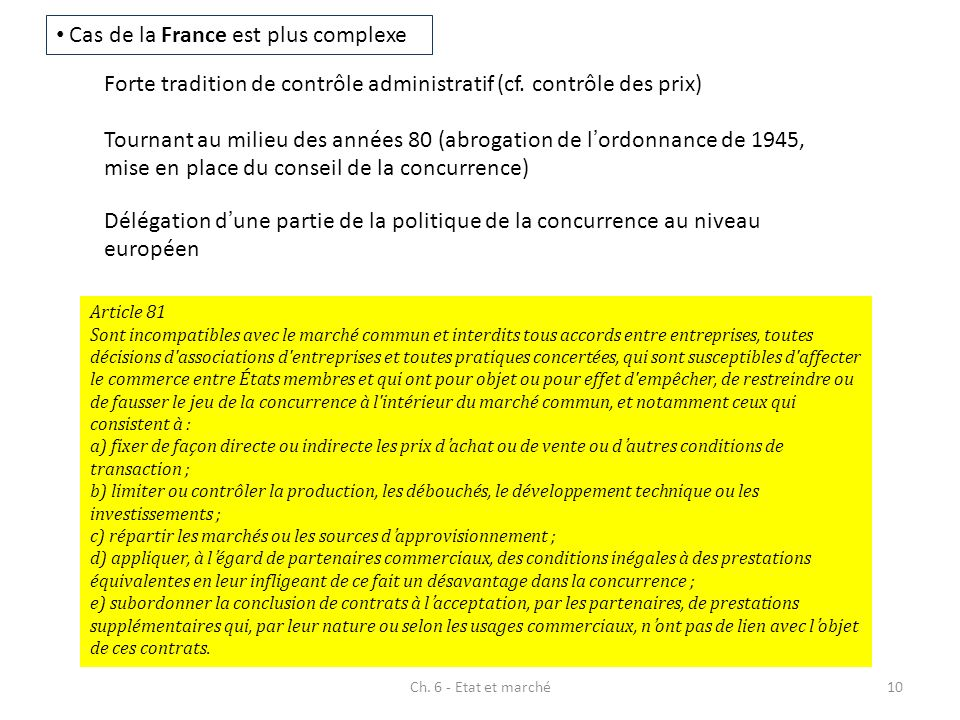 Cas de la France est plus complexe