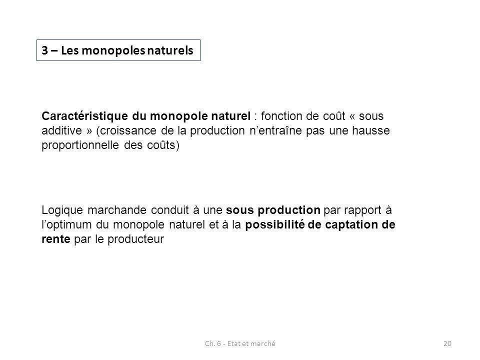 3 – Les monopoles naturels