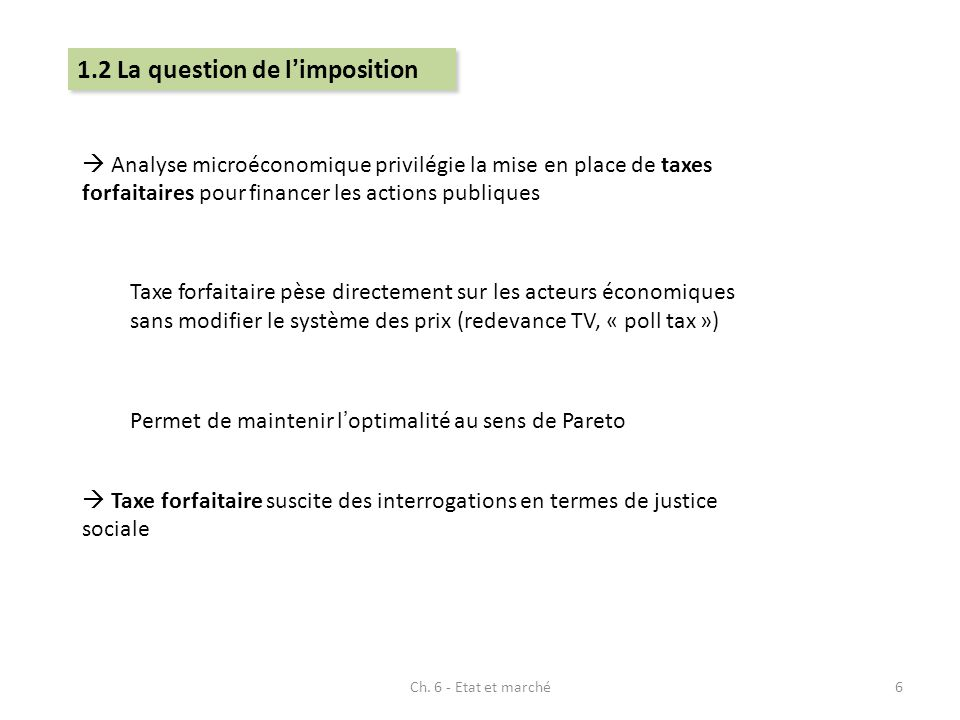 1.2 La question de l'imposition