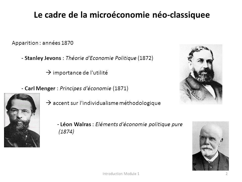 Le cadre de la microéconomie néo-classiquee