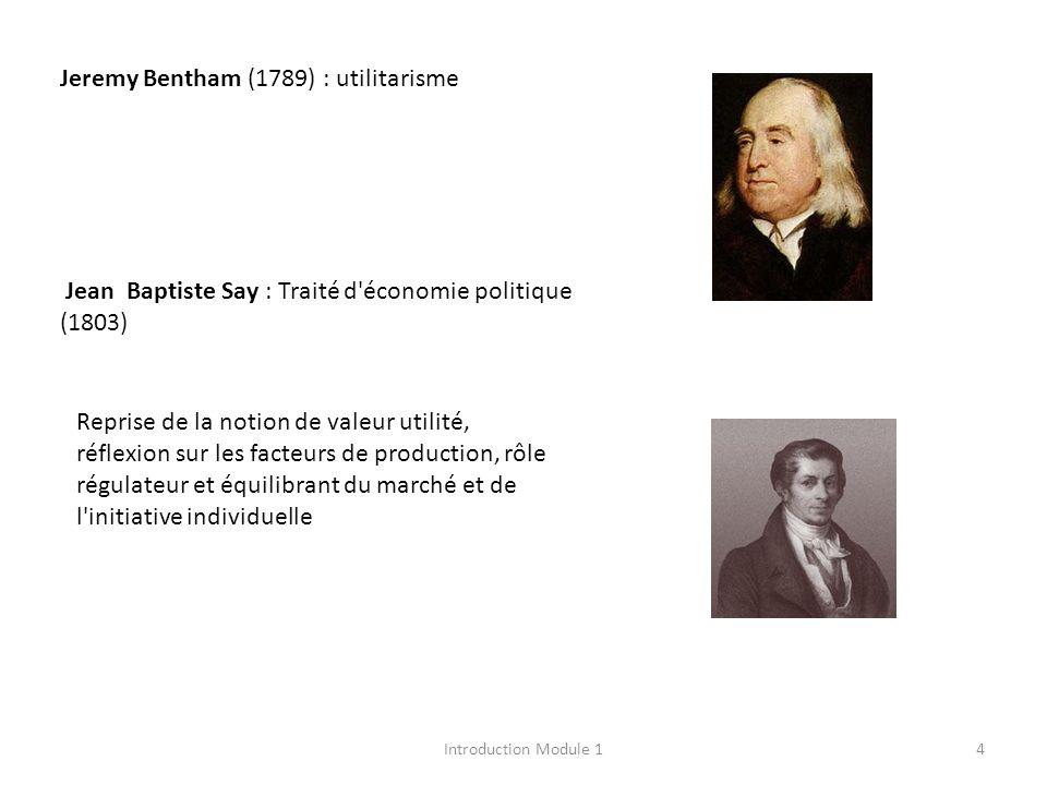 Jeremy Bentham (1789) : utilitarisme