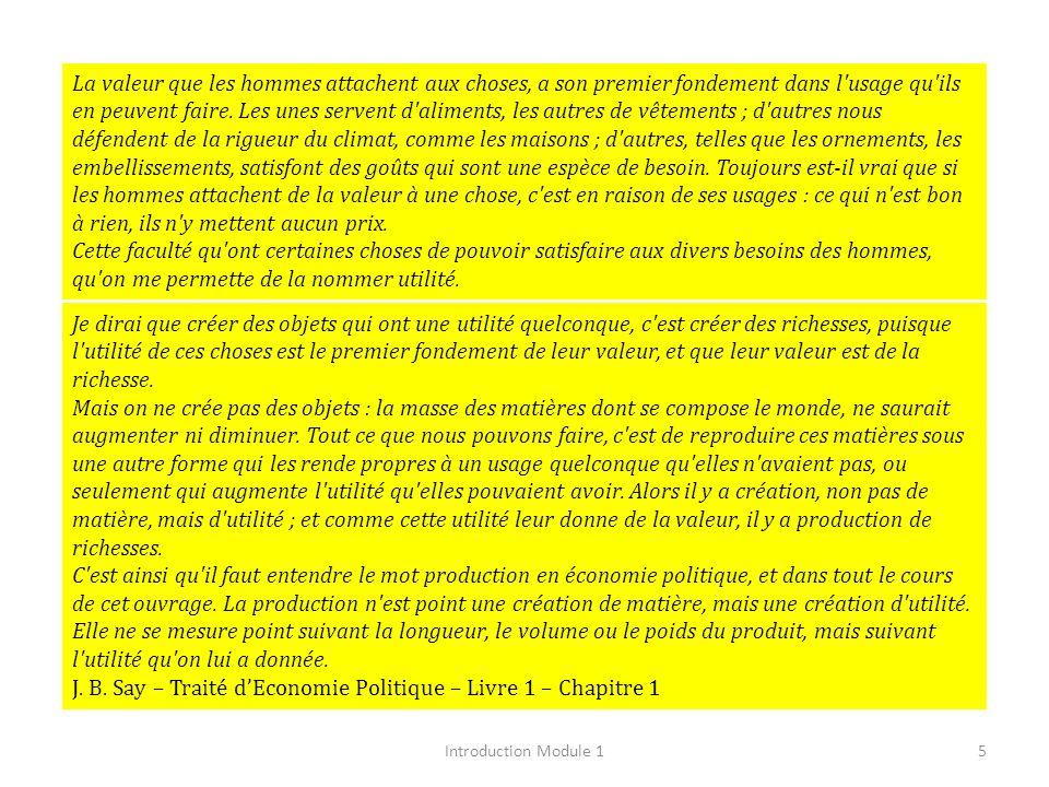 J. B. Say – Traité d'Economie Politique – Livre 1 – Chapitre 1