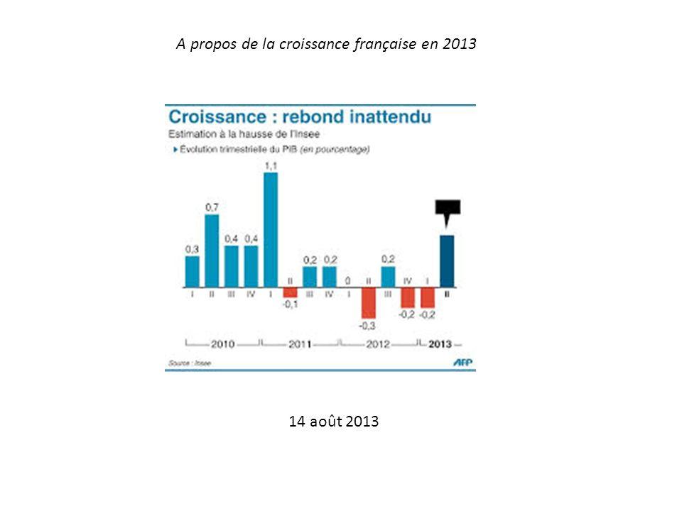 A propos de la croissance française en 2013