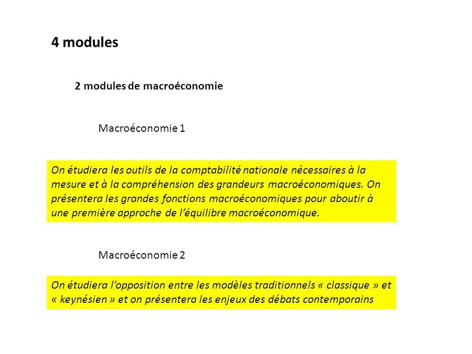 4 modules 2 modules de macroéconomie Macroéconomie 1
