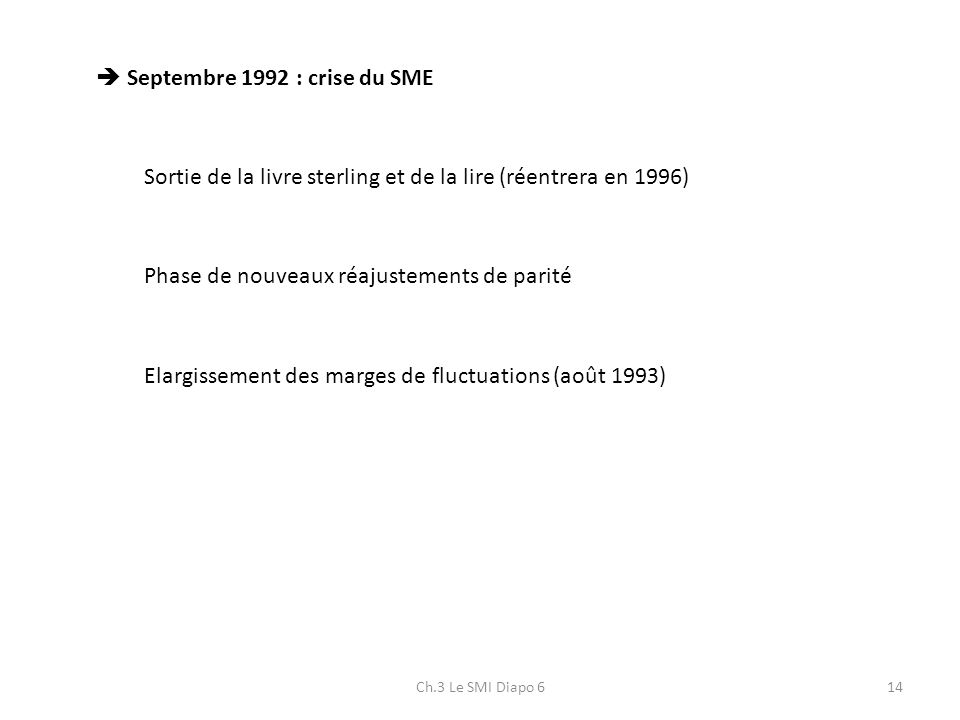  Septembre 1992 : crise du SME