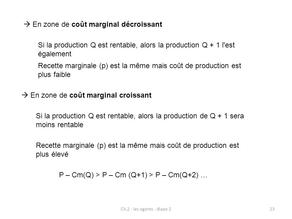 P – Cm(Q) > P – Cm (Q+1) > P – Cm(Q+2) …