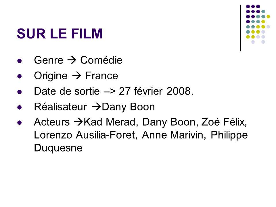SUR LE FILM Genre  Comédie Origine  France