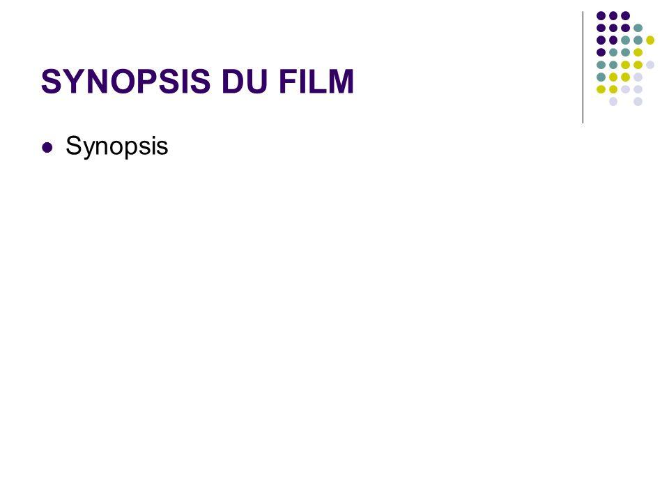 SYNOPSIS DU FILM Synopsis