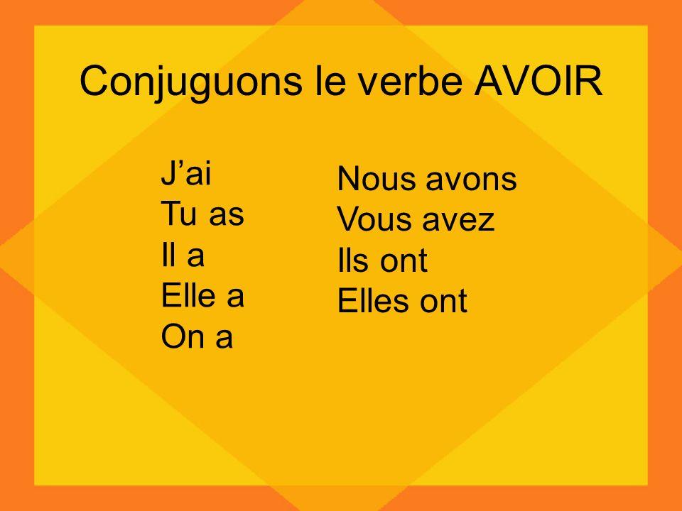 Conjuguons le verbe AVOIR