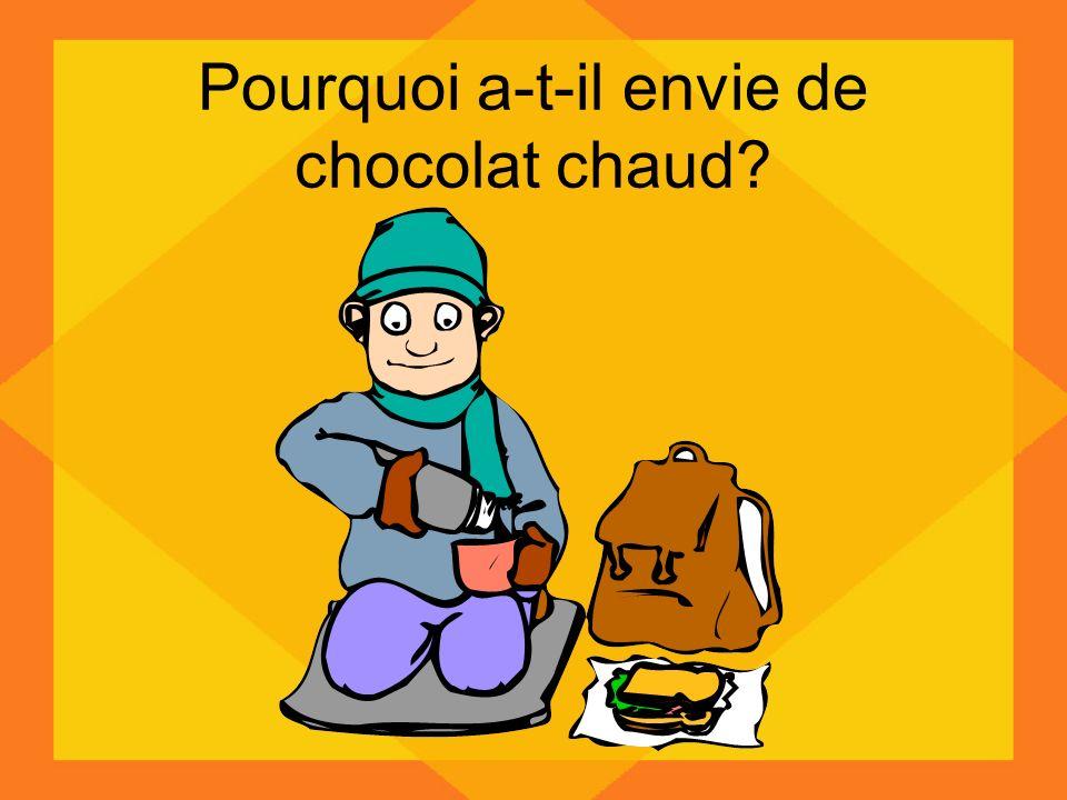 Pourquoi a-t-il envie de chocolat chaud