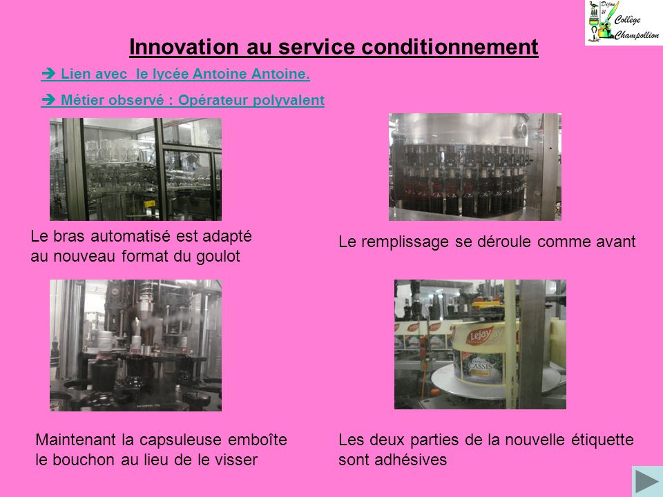 Innovation au service conditionnement