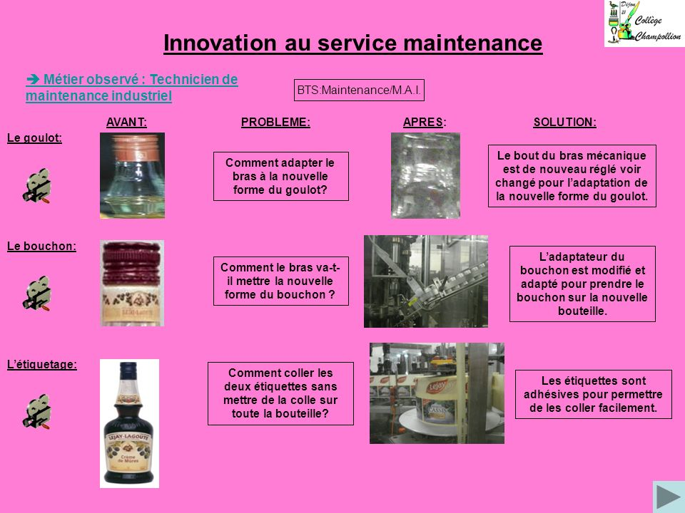 Innovation au service maintenance