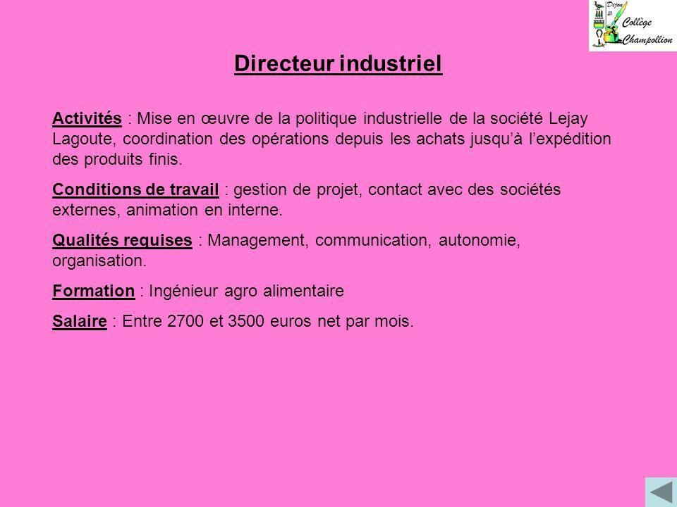 Directeur industriel
