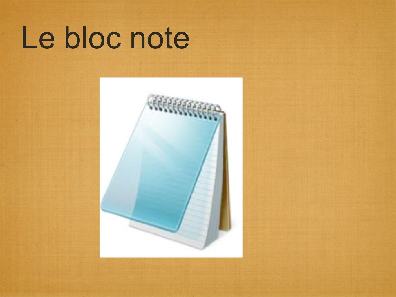 Le bloc note