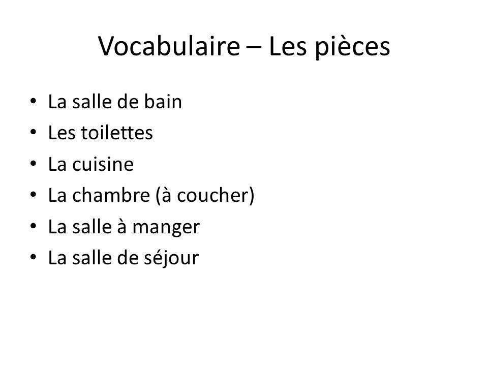 Vocabulaire – Les pièces