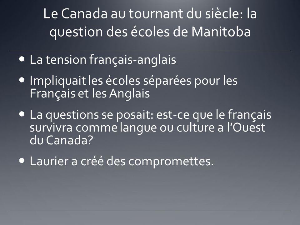 Le Canada au tournant du siècle: la question des écoles de Manitoba
