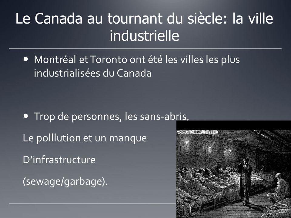 Le Canada au tournant du siècle: la ville industrielle