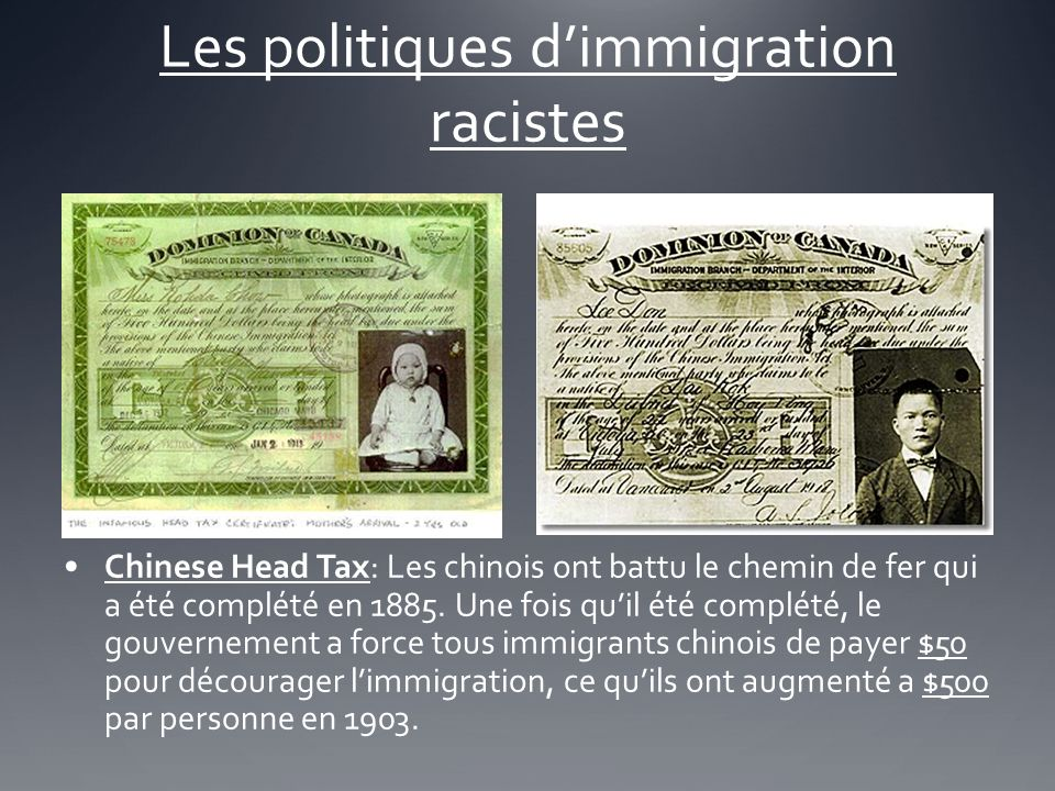 Les politiques d'immigration racistes