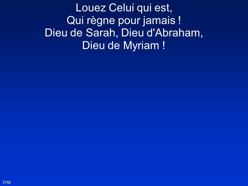 Dieu de Sarah, Dieu d Abraham, Dieu de Myriam !
