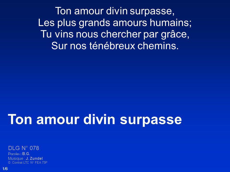 Ton amour divin surpasse