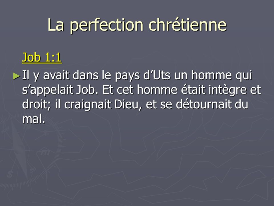 La perfection chrétienne