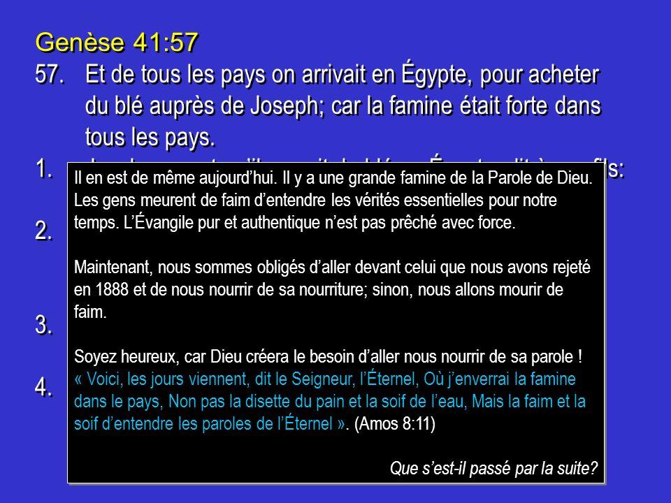 3. Dix frères de Joseph descendirent en Égypte, pour acheter du blé.