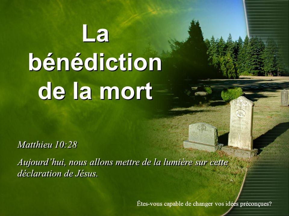 La bénédiction de la mort