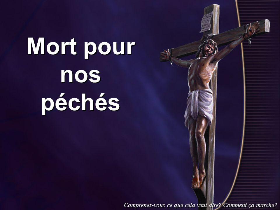 Mort pour nos péchés Comprenez-vous ce que cela veut dire Comment ça marche