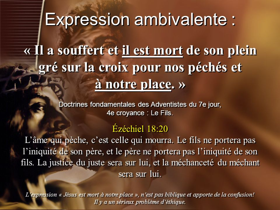 Expression ambivalente :