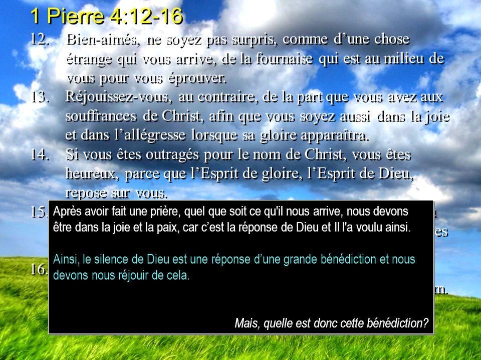 1 Pierre 4:12-16
