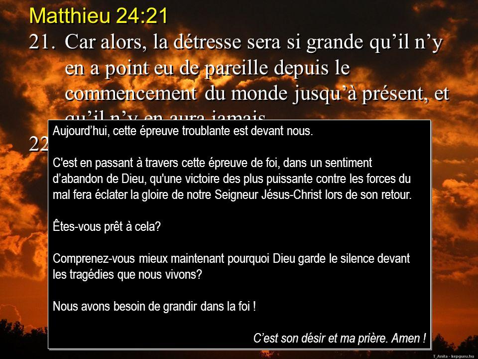Matthieu 24:21