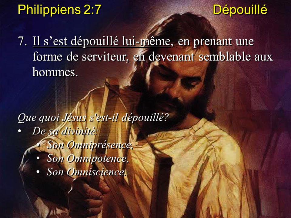Philippiens 2:7 Dépouillé