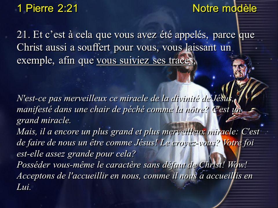 1 Pierre 2:21 Notre modèle