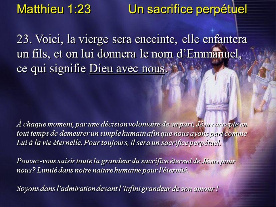 Matthieu 1:23 Un sacrifice perpétuel
