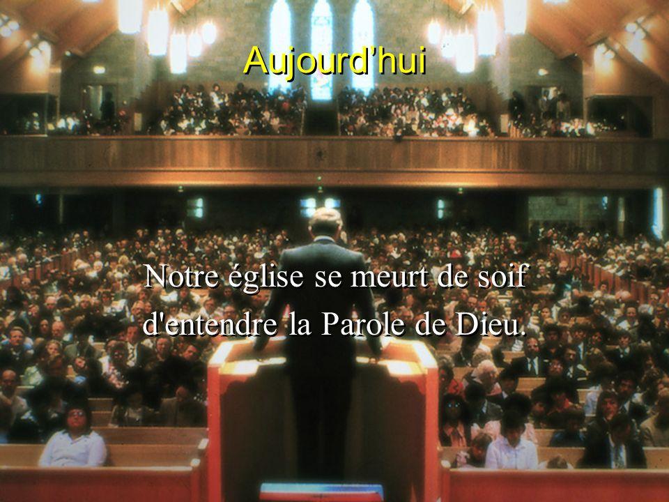 Aujourd'hui Notre église se meurt de soif