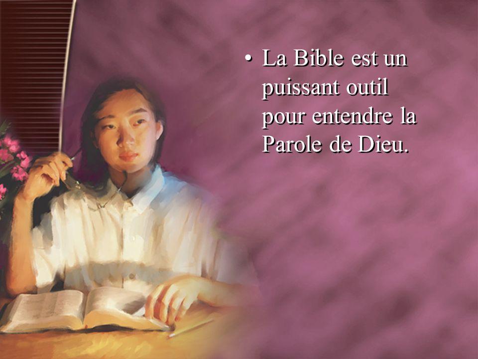 La Bible est un puissant outil pour entendre la Parole de Dieu.