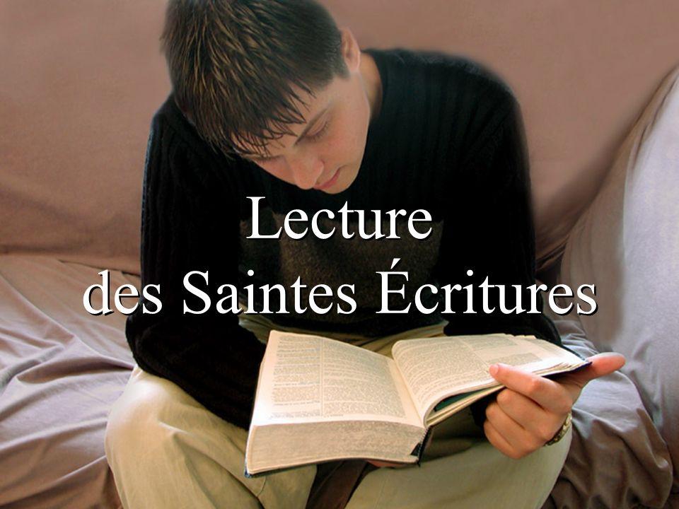 Lecture des Saintes Écritures