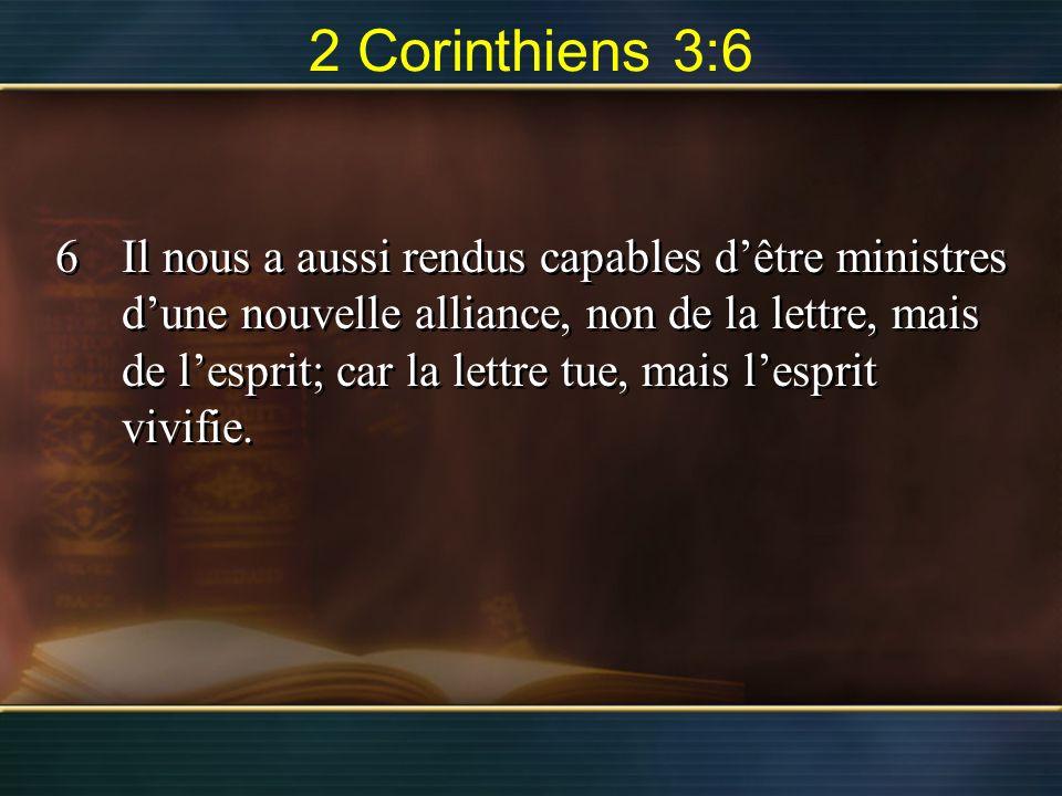2 Corinthiens 3:6