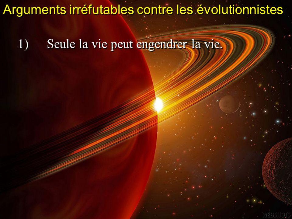 Arguments irréfutables contre les évolutionnistes